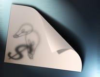 Ideeën op papier Stock Afbeelding