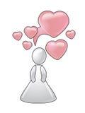 Ideeën over liefde. Conceptie royalty-vrije illustratie