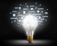 Ideeën voor efficiënt voorzien van een netwerk Gemengde media Stock Afbeeldingen
