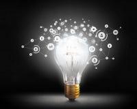 Ideeën voor efficiënt voorzien van een netwerk Gemengde media Stock Afbeelding