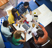 Ideeëncreativiteit Planningsbureau het Werk Koffieconcept stock afbeelding