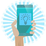 Idee App Royalty-vrije Stock Foto's