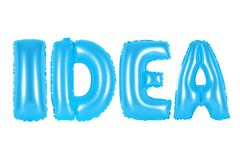 Idee, blaue Farbe Stockfotografie