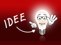 Idee Bulb Lamp Energy Light red Stock Image