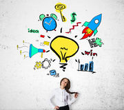 Idee creative di affari Immagine Stock
