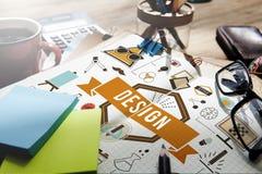 Idee creative Planning Sketch Concept di modello di progettazione Fotografia Stock