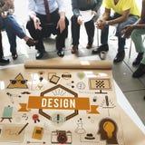 Idee creative Planning Sketch Concept di modello di progettazione Fotografia Stock Libera da Diritti