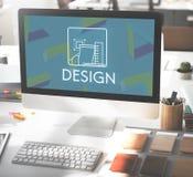 Idee creative Sketch Draft Concept di modello di progettazione Immagine Stock Libera da Diritti