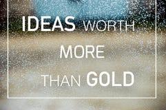 Idee degno più dell'oro Immagine Stock
