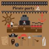 Idee del partito del pirata Fotografie Stock