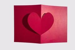 Idee della carta del biglietto di S. Valentino Fotografie Stock
