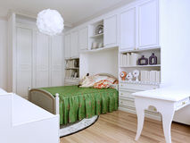 Idee des klassisch-angeredeten Schlafzimmers lizenzfreie stockfotografie