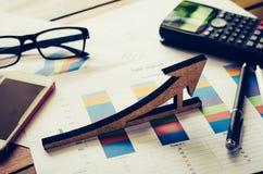 Idee di affari - icone metriche di affari Immagini Stock Libere da Diritti