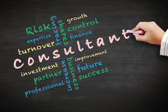 Idee di concetto del consulente ed altre parole relative Immagine Stock