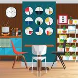 Idee di decorazione dell'interno moderno della sala da pranzo Fotografia Stock