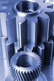 Idee di ingegneria in azzurro Fotografie Stock Libere da Diritti