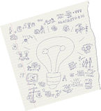 Idee di tiraggio su carta illustrazione di stock