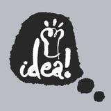 Idee in einer Sprache-Blase Lizenzfreie Stockfotos