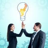 Idee en Groepswerkconcept royalty-vrije stock fotografie