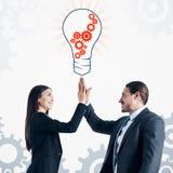 Idee en Groepswerkconcept stock afbeeldingen