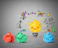 Idee en innovatieconcept Royalty-vrije Stock Afbeelding
