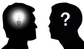 Idee en Twijfel royalty-vrije illustratie