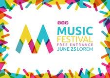 Idee für Plakat des Musikereignisses M-Symbol von Musik mit nettem Vektor Abbildung