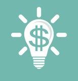 Idee, Geld zu verdienen stockfoto