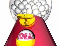 Idee Gumball-Maschinen-Inspirations-Fantasie Stockfotos