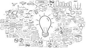 Idee - Hand-drawn infographics stock footage