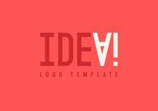 Idee het van letters voorzien, Ideeconcept, Abstract Ideeembleem Royalty-vrije Stock Afbeeldingen