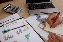 Idee innovarici di affari di agricoltura Business plan di agricoltura Immagine Stock