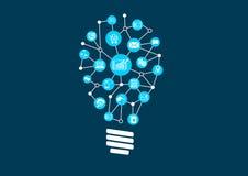 Idee innovarici per i grandi dati e analisi dei dati premonitrice in un mondo digitale illustrazione di stock