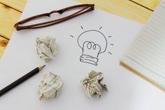 Idee, innovatie en creativiteitconcept Royalty-vrije Stock Foto's