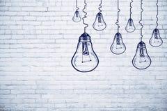 Idee, innovatie en voltooiingsconcept royalty-vrije illustratie