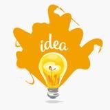 Idee kreativ Auch im corel abgehobenen Betrag lizenzfreie abbildung
