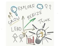 Idee Startup e creative avanti Fotografia Stock
