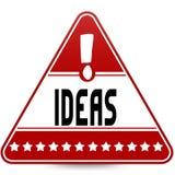IDEE sul segnale stradale rosso del triangolo Fotografia Stock Libera da Diritti