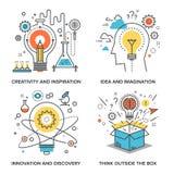 Idee und Fantasie lizenzfreie abbildung