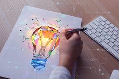 Idee und Kunstkonzept Stockfotografie