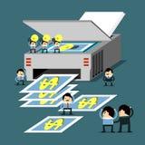 Idee und Teamwork ist Geld Stockfotos