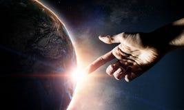 Idee van Aardeverwezenlijking royalty-vrije stock fotografie