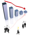 Idee van de output van crisis Royalty-vrije Stock Afbeelding