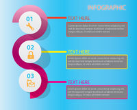 Idee, Zeitachse mit Pfeil anzuzeigen Lizenzfreies Stockbild