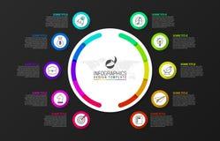 Idee, Zeitachse mit Pfeil anzuzeigen Kreatives Konzept mit 10 Schritten vektor abbildung