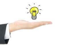 Ideeconcept met lightbulb Stock Afbeeldingen