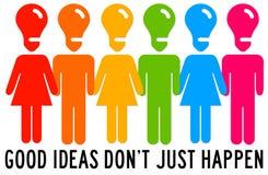 Ideemensen Stock Afbeeldingen