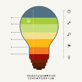 Ideemeter Infographic Stock Afbeeldingen