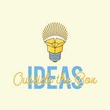 Ideen außerhalb des Kasten-Zusammenfassungs-Vektor-Konzept-Logos vektor abbildung