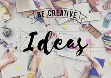 Ideen-denken kreatives Konzept des Entwurfes Konzept Stockbild